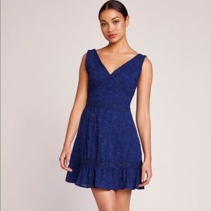 NWT BB Dakota Blue Embroidery Date Dress
